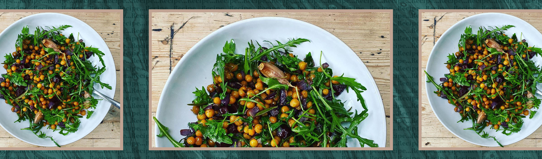 Roasted Chickpeas with Beetroot and Rocket