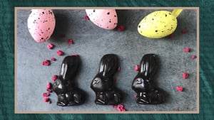 Sweet and Sour Gummy Sweets & Raspberry and Rose Chocolate Bunnies